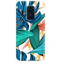 """Dėklas Unikaliu Dizainu """"U-Case Airskin Leaves 1 Design"""" 1.0 mm TPU Xiaomi Redmi Note 9 Telefonui"""