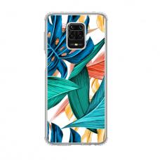 """Dėklas Unikaliu Dizainu """"U-Case Airskin Leaves 1 Design"""" 1.0 mm TPU Xiaomi Redmi Note 9S Telefonui"""
