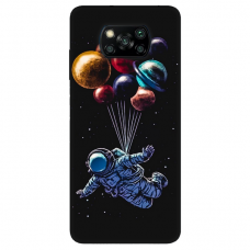 "Dėklas Unikaliu Dizainu ""U-Case Airskin Cosmo Design"" 1.0 mm TPU Xiaomi Poco X3 NFC Telefonui"