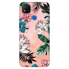 """Dėklas Unikaliu Dizainu """"U-Case Airskin Flowers 1 Design"""" 1.0 mm TPU Xiaomi Redmi 9C Telefonui"""