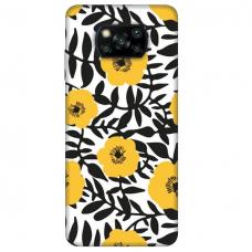 "Dėklas Unikaliu Dizainu ""U-Case Airskin Flowers 2 Design"" 1.0 mm TPU Xiaomi Poco X3 NFC Telefonui"