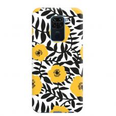 """Dėklas Unikaliu Dizainu """"U-Case Airskin Flowers 2 Design"""" 1.0 mm TPU Xiaomi Redmi Note 9 Telefonui"""