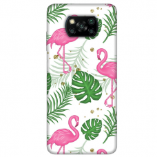 "Dėklas Unikaliu Dizainu ""U-Case Airskin Flamingos Design"" 1.0 mm TPU Xiaomi Poco X3 NFC Telefonui"