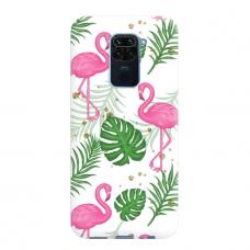 """Dėklas Unikaliu Dizainu """"U-Case Airskin Flamingos Design"""" 1.0 mm TPU Xiaomi Redmi Note 9 Telefonui"""