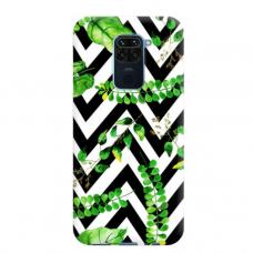 """Dėklas Unikaliu Dizainu """"U-Case Airskin Leaves 2 Design"""" 1.0 mm TPU Xiaomi Redmi Note 9 Telefonui"""