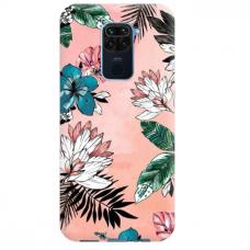 """Dėklas Unikaliu Dizainu """"U-Case Airskin Flowers 1 Design"""" 1.0 mm TPU Xiaomi Redmi Note 9 Telefonui"""