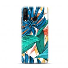 "Dėklas Unikaliu Dizainu ""U-Case Airskin Leaves 1 Design"" 1.0 mm TPU Huawei P40 Lite E Telefonui"