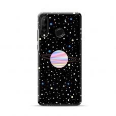 "Dėklas Unikaliu Dizainu ""U-Case Airskin Planet Design"" 1.0 mm TPU Huawei P40 Lite E Telefonui"