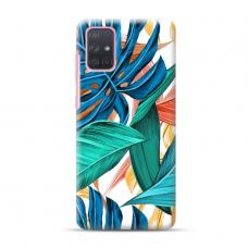"""Dėklas Unikaliu Dizainu """"U-Case Airskin Leaves 1 Design"""" 1.0 mm TPU Samsung Galaxy A72 Telefonui"""
