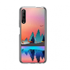 "Dėklas Unikaliu Dizainu ""U-Case Airskin Nature 5 Design"" 1.0 mm TPU Huawei P Smart Pro Telefonui"