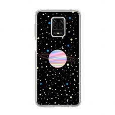 """Dėklas Unikaliu Dizainu """"U-Case Airskin Planet Design"""" 1.0 mm TPU Xiaomi Redmi Note 9 Pro Telefonui"""