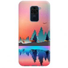 """Dėklas Unikaliu Dizainu """"U-Case Airskin Nature 5 Design"""" 1.0 mm TPU Xiaomi Redmi Note 9 Telefonui"""