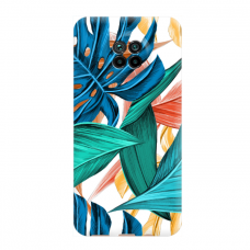 """Dėklas Unikaliu Dizainu """"U-Case Airskin Leaves 1 Design"""" 1.0 mm TPU Xiaomi Redmi Note 9T Telefonui"""