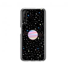 "Dėklas Unikaliu Dizainu ""U-Case Airskin Planet Design"" 1.0 mm TPU Huawei P Smart Pro Telefonui"