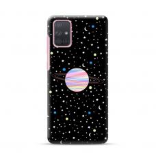 "Dėklas Unikaliu Dizainu ""U-Case Airskin Planet Design"" 1.0 mm TPU Samsung Galaxy A72 Telefonui"