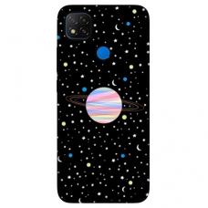 """Dėklas Unikaliu Dizainu """"U-Case Airskin Planet Design"""" 1.0 mm TPU Xiaomi Redmi 9C Telefonui"""