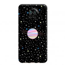 """Dėklas Unikaliu Dizainu """"U-Case Airskin Planet Design"""" 1.0 mm TPU Xiaomi Redmi Note 9T Telefonui"""