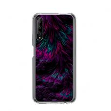 "Dėklas Unikaliu Dizainu ""U-Case Airskin Feather Design"" 1.0 mm TPU Huawei P Smart Pro Telefonui"