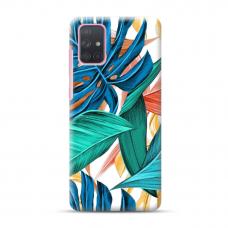 """Dėklas Unikaliu Dizainu """"U-Case Airskin Leaves 1 Design"""" 1.0 mm TPU Samsung Galaxy A52 Telefonui"""