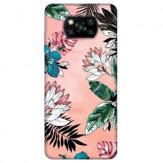 "Dėklas Unikaliu Dizainu ""U-Case Airskin Flowers 1 Design"" 1.0 mm TPU Xiaomi Poco X3 NFC Telefonui"