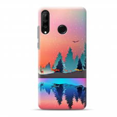 "Dėklas Unikaliu Dizainu ""U-Case Airskin Nature 5 Design"" 1.0 mm TPU Huawei P40 Lite E Telefonui"