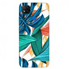 """Dėklas Unikaliu Dizainu """"U-Case Airskin Leaves 1 Design"""" 1.0 mm TPU Xiaomi Redmi 9C Telefonui"""
