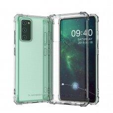 Dėklas Wozinsky Anti Shock Durable skirta Samsung Galaxy S20 Fe 5G Skaidrus