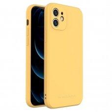 Dėklas Wozinsky Color Case silikonas iPhone 12 Geltonas