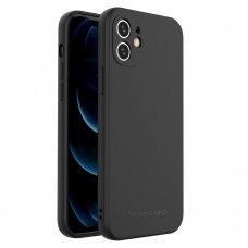 Dėklas Wozinsky Color Case silikonas iPhone 12 Juodas