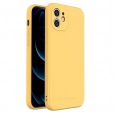 Dėklas Wozinsky Color Case silikonas iPhone 12 mini Geltonas