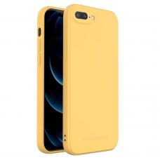 Dėklas Wozinsky Color Case silikonas iPhone 8 Plus / iPhone 7 Plus Geltonas
