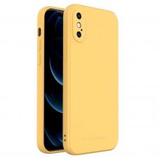 Dėklas Wozinsky Color Case silikonas iPhone XS / iPhone X Geltonas