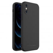 Dėklas Wozinsky Color Case silikonas iPhone XS / iPhone X Juodas
