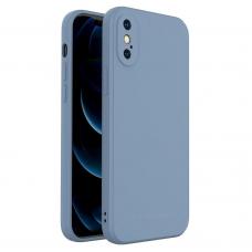 Dėklas Wozinsky Color Case silikonas iPhone XS / iPhone X Mėlynas