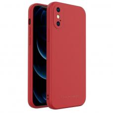Dėklas Wozinsky Color Case silikonas iPhone XS / iPhone X Raudonas