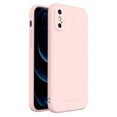 Dėklas Wozinsky Color Case silikonas iPhone XS / iPhone X Rožinis