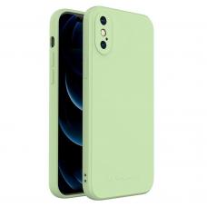 Dėklas Wozinsky Color Case silikonas iPhone XS / iPhone X Žalias