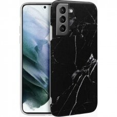 Dėklas Wozinsky Marble TPU Samsung Galaxy S21 5G juodas