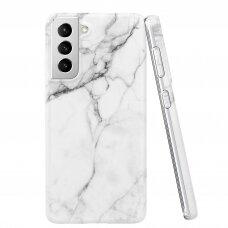 Dėklas Wozinsky Marble TPU  Samsung Galaxy S21+ 5G (S21 Plus 5G) baltas
