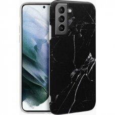 Dėklas Wozinsky Marble TPU Samsung Galaxy S21+ 5G (S21 Plus 5G) juodas