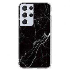 Dėklas Wozinsky Marble TPU  Samsung Galaxy S21 Ultra 5G juodas