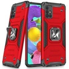Dėklas Wozinsky Ring Armor Case Samsung Galaxy A51 Raudonas