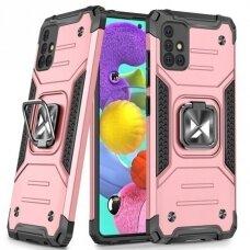 Dėklas Wozinsky Ring Armor Case Samsung Galaxy A51 Rožinis