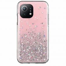 Blizgus TPU dėklas Wozinsky Star Glitter Xiaomi Mi 11 Rožinis