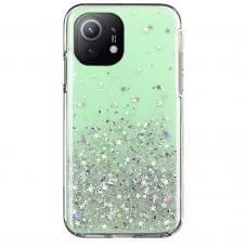 Blizgus TPU dėklai Wozinsky Star Glitter Xiaomi Mi 11 Žalias