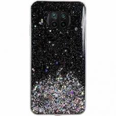 Blizgus TPU dėklas Wozinsky Star Glitter Xiaomi Mi 10T Lite Juodas