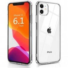 Dėklas X-Level Antislip/O2 Apple Iphone 11 Skaidrus