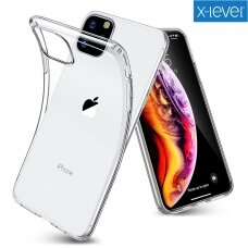 Dėklas X-Level Antislip/O2 Samsung A20S Skaidrus