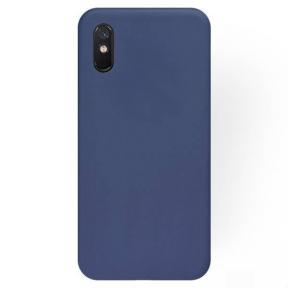 Dėklas Rubber TPU Xiaomi Redmi 9A/9AT tamsiai mėlynas