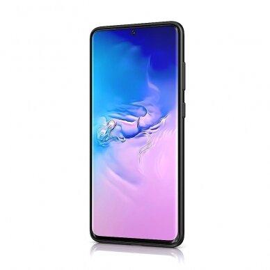 Dėklas BeHello Liquid Silicone Samsung G981 S20 juodas UCS003 2